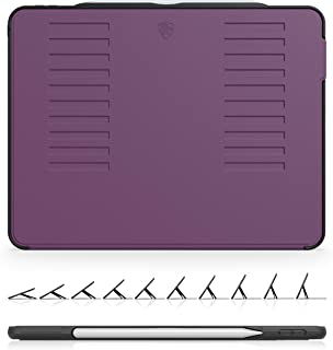 ZUGU iPad Pro 12.9 ケース 2018 第3世代 The Muse Case 極薄 落下衝撃保護 10段階スタンド機能 オートスリープ スマートカバー (パープル)