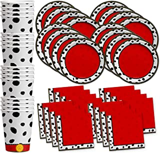 Dalmatians Birthday Party Supplies Set Plates Napkins Cups Tableware Kit for 16 by Birthday Galore