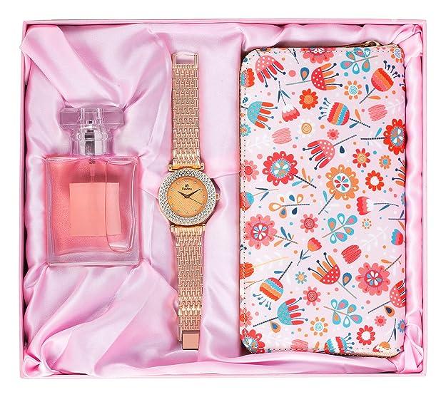 Avighna Women's Clutch, Watch With Perfume