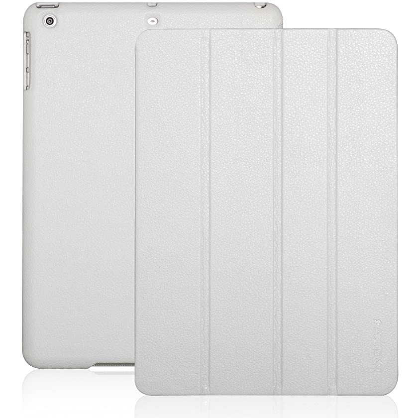 iPad Air case, INVELLOP Cement White/Light Gray Leatherette Case Cover for Apple iPad Air cases (2013 release)