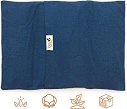 """product image for ComfyComfy Microwaveable Organic Flaxseed Heating Pad with Washable Case 15"""" x 11"""", Made in USA, Blue"""