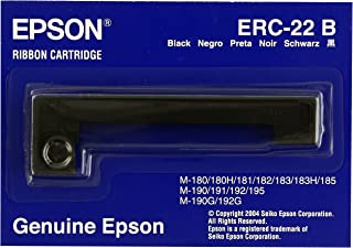 Epson ERC 22B, Print ribbon, 1 x Black, Genuine, Amazon Dash Replenishment Ready
