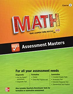 Glencoe Math Assessment Masters Course 2 Your Common Core Edition