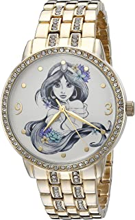 Disney The Princess & The Frog Women's W002517 Jasmin Analog Display Analog Quartz Gold Watch