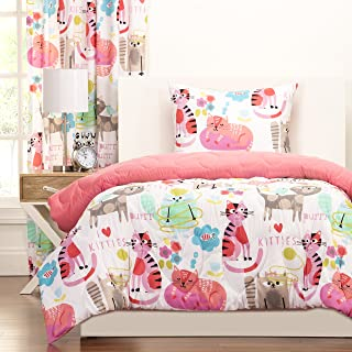 SIS Covers Crayola Purrty Cat Comforter Set, Twin