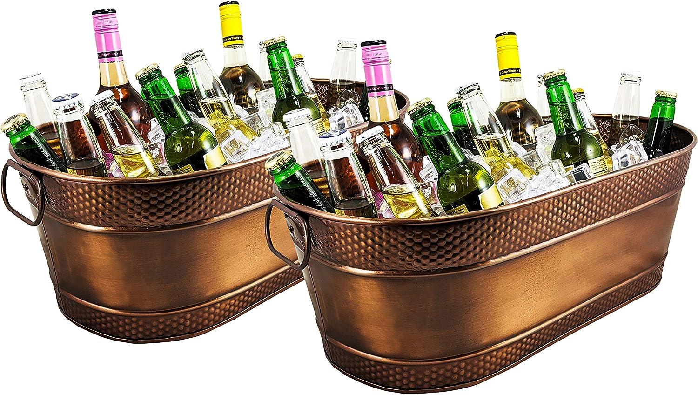 BREKX Ranking TOP5 Colt Copper-Finish Hammered Tubs Drin Beverage Galvanized safety