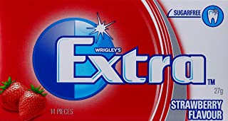 Extra Strawberry Flavour Chewing Gum, 24 x 27g Packs