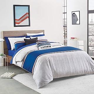 Lacoste Praloup Duvet Set, King, Blue, White