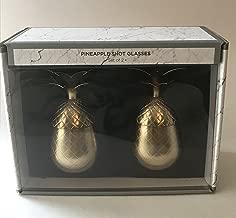 Pineapple Shot Glasses Gold Set of 2