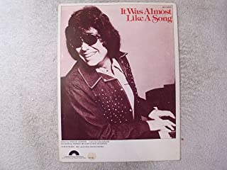 It Was Almost Like a Song (Milsap, Ronnie) (1983) Piano/Vocal Sheet Music