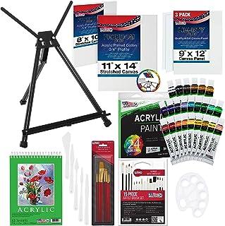U.S Art Supply Juego de pintura acrílica de lujo de 60 piez
