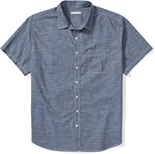 Amazon Essentials Men's Big & Tall Short-Sleeve Chambray Shirt fit by DXL