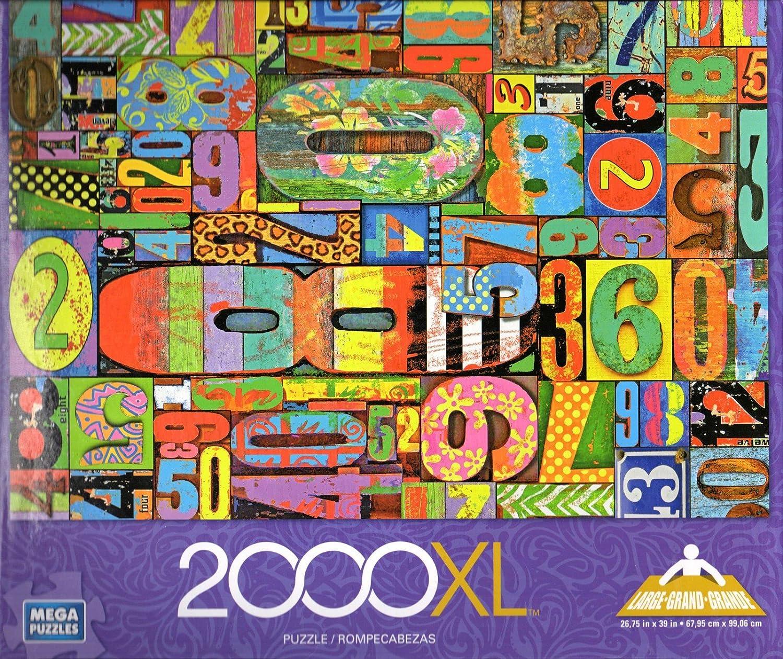 Vintage Numbers 2000 Piece Puzzle