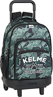 Mochila Escolar con Carro Incluido y Espalada Acolchada de Kelme, Multicolor (Authentic)