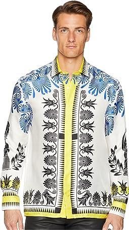 Olympiad Print Silk Shirt