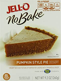 Jell-O No-Bake Pumpkin Style Pie Dessert, 9.2-Ounce Boxes (Pack of 6)