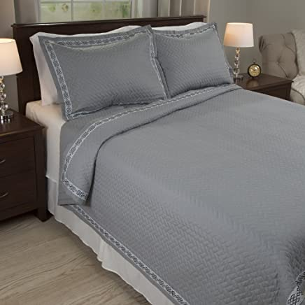 featured product Lavish Home Valencia Embroidered 2 Piece Quilt Set - Twin
