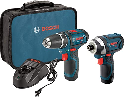 Bosch Power Tools Combo Kit CLPK22-120 - 12-Volt Cordless Tool Set (Drill/Driver and Impact Driver) with 2 Batteries,...