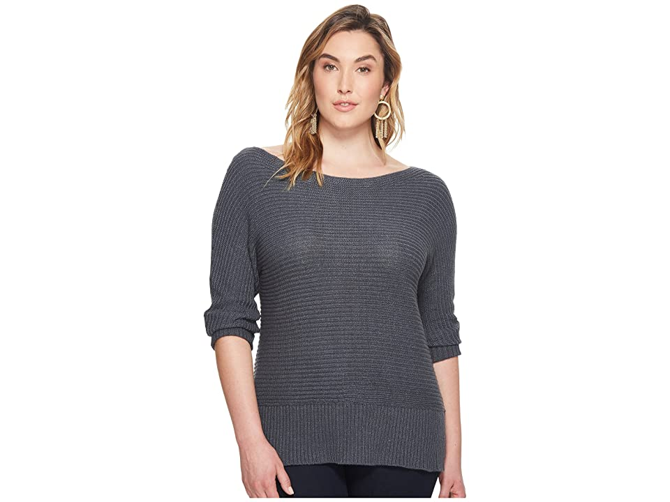 Lucky Brand Plus Size Off Shoulder Sweater (Storm Grey) Women