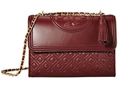 Tory Burch Fleming Convertible Shoulder Bag (Claret) Shoulder Handbags