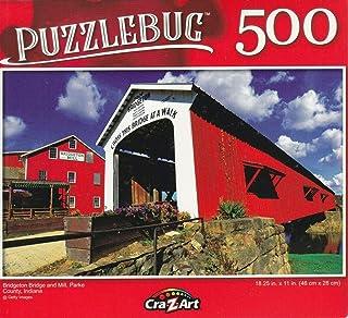 Cra-Z-Art Bridgeton Bridge and Mill, Parkle County, Indiana - 500 Piece Jigsaw Puzzle