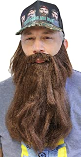 Extra Long Fake Brown Beard w/Mustache (One Size Fits All)