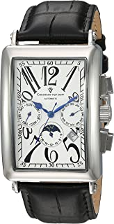 Christian Van Sant Men's Automatic Watch analog Display and Leather Strap, CV9131