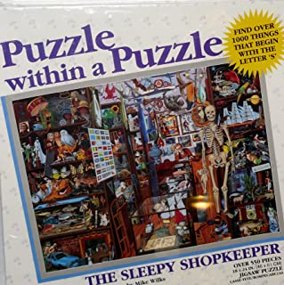 The Sleepy Shopkeeper Puzzle Within a Puzzle 550 Pieces Jigsaw Puzzle