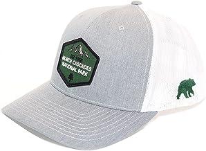 North Cascades National Park Patch Trucker Hat. Heather Grey. Adjustable Snapback.