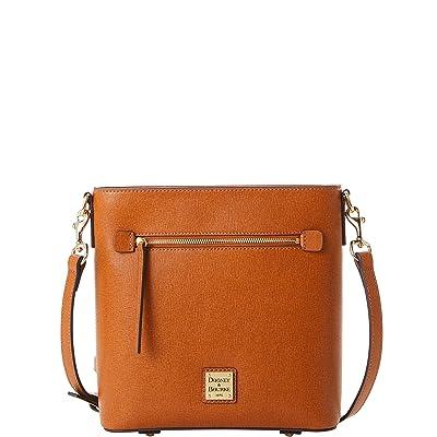 Dooney & Bourke Saffiano Zip Crossbody (Natural) Handbags