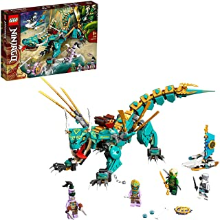LEGO 71746 NINJAGO Jungle Dragon Building Set, with Ninja Lloyd and Zane Minifigures, Toys for 8 + Years Old Boys and Girls