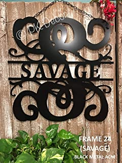 Personalized Last Name Sign Weatherproof 24 inch ACM Metal Monogram Letter Wall Decor Family Established Signs Custom Door Hanger Monogram Outdoor Patio Sign Wedding Gift Anniversary QUICK SHIPPING