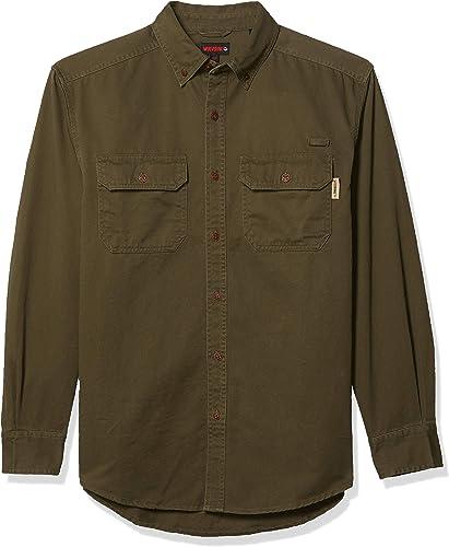 Generic Mens Premium Solid Color Long Sleeve Zipper Trim Western Dress Shirt