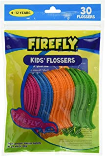 Firefly Kids' Flossers, Ages 4-12, Pack of 30 (1 Resealable)