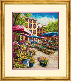 Dimensions Gold Collection Small Counted Cross Stitch Kit, 'Provence Market', 18 Count Ivory Aida Cloth, 12'' x 15''