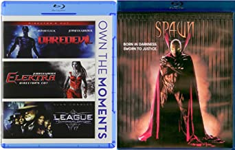 SPAWN Blu Ray & Marvel Super Hero Daredevil / Elektra & The League of Extraordinary Gentlemen 4 Movie Comics Bundle Set