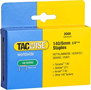 Tacwise 0340 140 Series 1//4-Inch Flat Wire Professional Staples 0340 5000-Pack