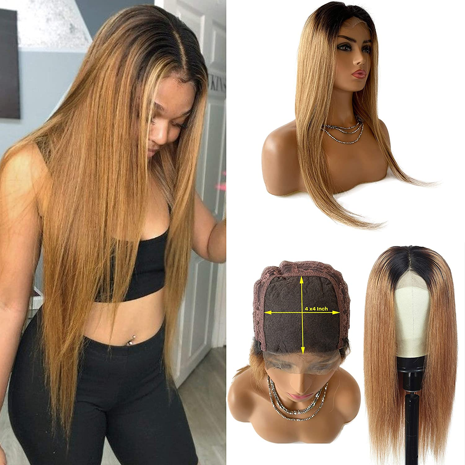 Brazilian Human Hair Wig Ombre Blonde Wigs Ranking TOP7 Lace Frontal Str 1b27 New arrival