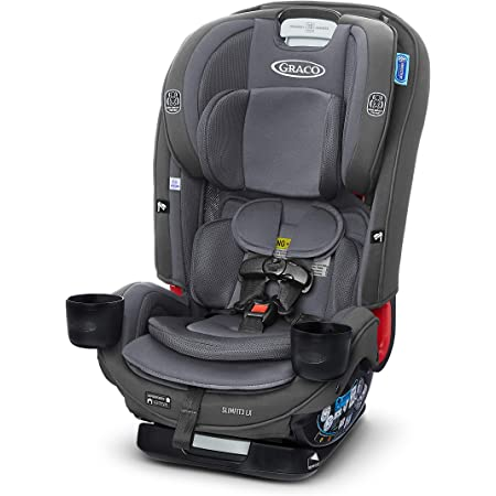 Graco SlimFit3 LX 3 in 1 Car Seat | Space Saving Car Seat Fits 3 Across in Your Back Seat, Kunningham