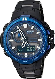 Casio Men's 'Pro Trek' Quartz Stainless Steel and Titanium Sport Watch, Color:Black (Model: PRW-6000SYT-1CR)