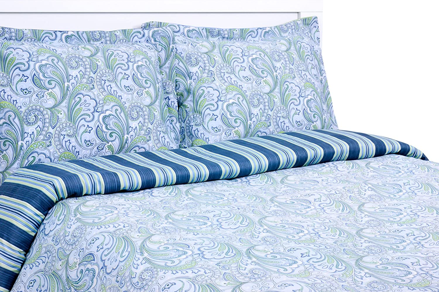 Ranking Fees free!! TOP6 Elite Home 300 Thread Count C 100-Percent Lindsey Paisley Stripe