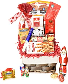 Candy & Chocolate Gift Christmas Basket - Santa, Chocolate, Gourmet, Food, Holiday Gifts Variety for Family, Friends, Coll...