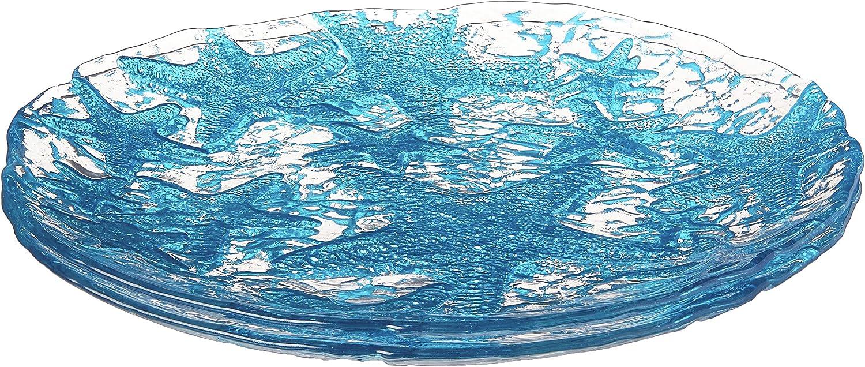Sea Trust Star Dessert Plate Mirror of2 8.5-Inch Set Mail order cheap Blue