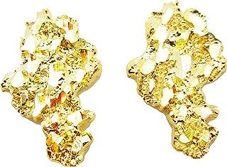 Mens 10k Yellow Gold Nugget Earrings