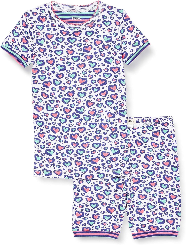 Hatley Girls' Organic Cotton Short Sleeve Pyjama Set