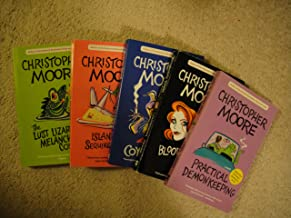 5 books of Christopher Moore: Bloodsucking Fiends, Coyote Blue, Island of the Sequined Love Nun, The Lust Lizard of Melancholy Cove & Practical Demonkeeping