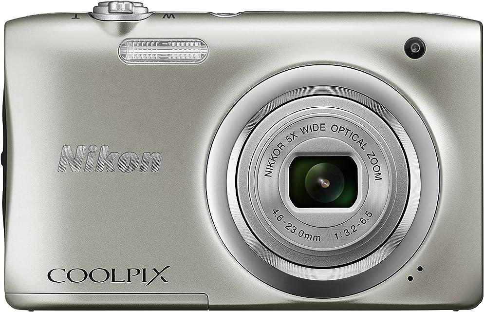 Nikon COOLPIX A100 - Cámara Digital (Cámara compacta 1/2.3 46-23 mm Auto) Plata