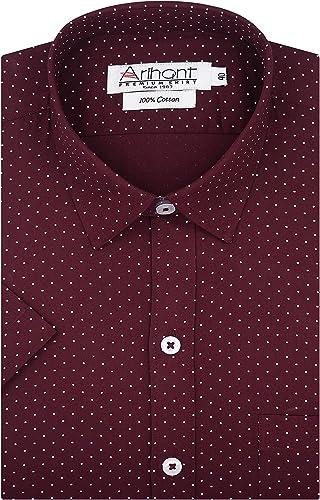 Printed Self Design 100 Cotton Half Sleeves Regular Fit Formal Shirt for Men
