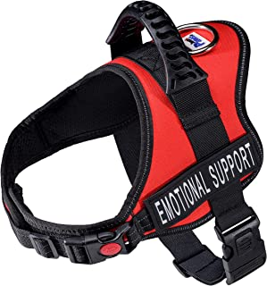 Just 4 Paws Emotional Support Dog Harness Jacket with Padded Handle | 5 Sizes | 2 Colors | Adjustable Straps & 2 Removable Reflective Patches