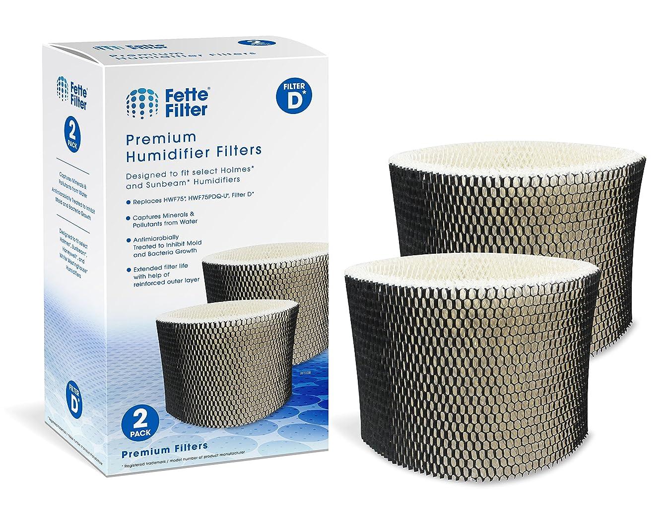 Fette Filter - Humidifier Filter Compatible with Holmes HWF75, HWF75CS, HWF75PDQ-U - Filter D (2-Pack)